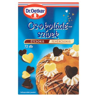Dr. Oetker Chocolate Hearts with Dark and White Chocolate 72 pcs 45 g
