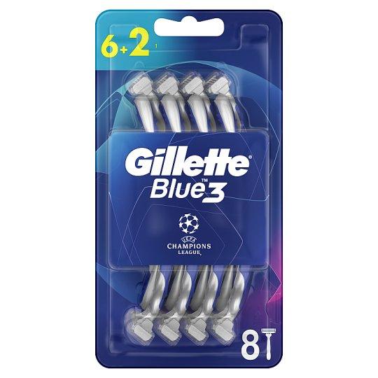 Gillette Blue3 Football Men's Disposable Razors 6+2