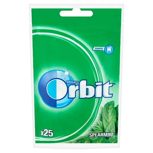 Orbit Spearmint mentaízű cukormentes rágógumi édesítőszerrel 25 db 35 g