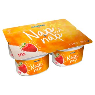 Danone Nap Mint Nap Strawberry Flavoured Fermented Yoghurt with Live Cultures 4 x 110 g