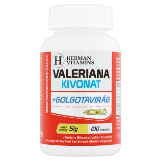 Herman Vitamins Valeriana Extract +Passion Flower +Hop Food Supplement 100 pcs 51 g