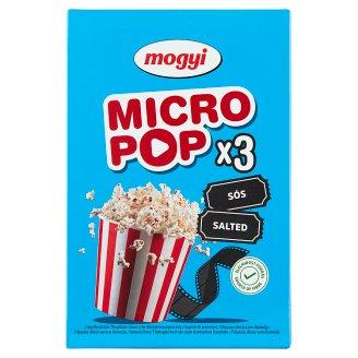 Mogyi Micro Pop Salted Popcorn 3 x 100 g