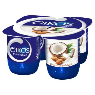 Danone Oikos Görög kókusz-mandulaízű élőflórás krémjoghurt 4 x 125 g