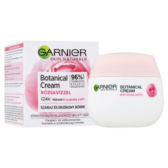 image 2 of Garnier Skin Naturals Botanical Hydrating Cream with Rose Water for Dry and Sensitive Skin 50 ml