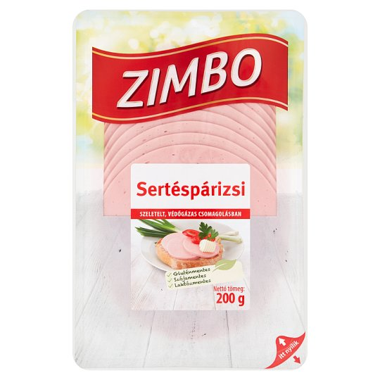 Zimbo szeletelt sertéspárizsi 200 g