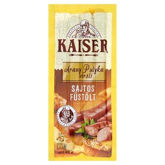Kaiser Arany Pulyka Smoked Frankfurters with Cheese 140 g