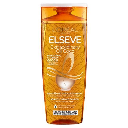 L'Oréal Paris Elseve Extraordinary Oil tápláló sampon normál, száraz és szöszösödő hajra 400 ml