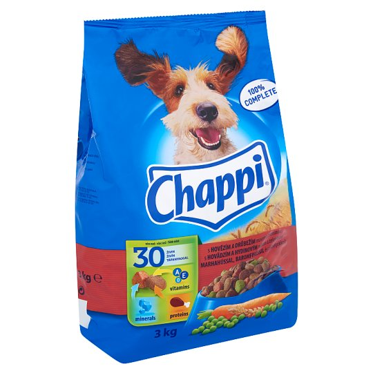 Chappi Complete Food for Adult Dogs with Beef, Poultry and Vegetables 3 kg