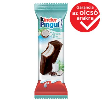 Kinder Pingui Cocco tejcsokoládéval bevont, tejes és kókuszos töltésű sütemény 30 g