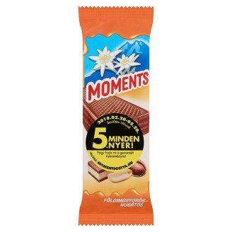 Moments Cocoa Coated Dark Crispy Wafers with Nougat Cream Filling 50 g
