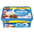 Big Milk eper jégkrém, vanília-tejszín ízű jégkrém és csokoládés jégkrém 1400 ml