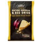 Tesco Finest Mature Cheddar & Red Onion Flavoured Potato Crisp 40 g