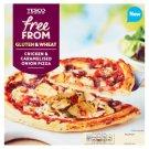 Tesco Free From gyorsfagyasztott, gluténmentes csirkés-hagymás pizza 330 g
