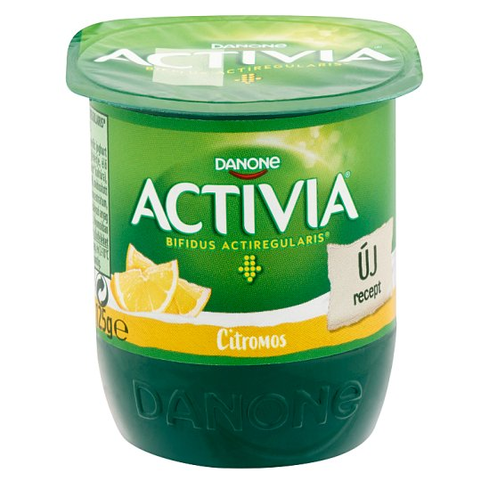 Danone Activia Low-Fat Yoghurt with Lemon and Live Cultures 125 g