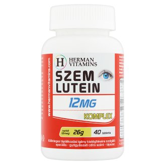Herman Vitamins Eye Lutein 12 mg Complex Special Supplement 40 pcs 26 g