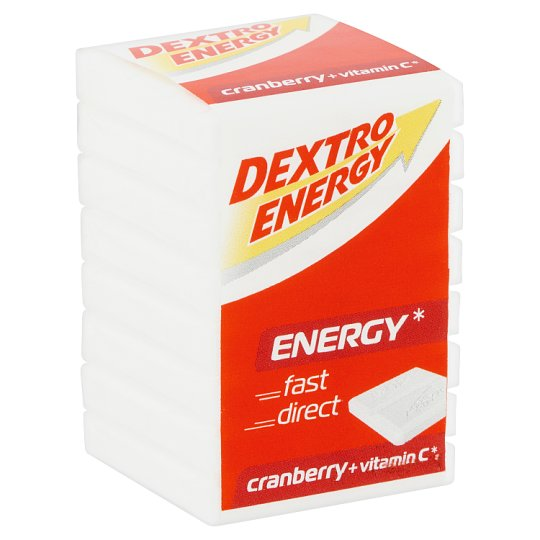 Dextro Energy Cranberry Flavoured Dextrose Tablets with Vitamin C 46 g
