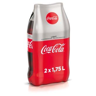 Coca-Cola Light colaízű energiamentes szénsavas üdítőital édesítőszerekkel 2 x 1,75 l