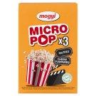 Mogyi Micro Pop sajtos ízű, mikrohullámú sütőben elkészíthető pattogatni való kukorica 3 x 100 g