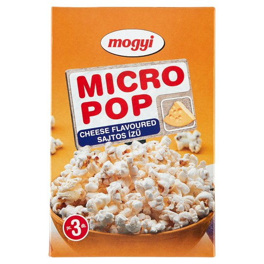 Mogyi Micro Pop Cheese Flavoured Microwave Popcorn 3 x 100 g