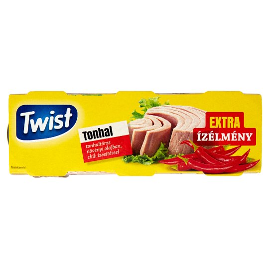 Twist Tuna in Vegetable Oil with Chili Flavour 3 x 80 g