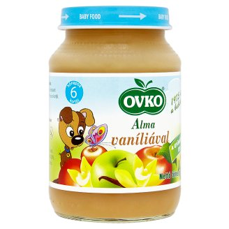 Ovko Gluten- and Dairy-Free Apple with Vanilla Baby Food 6+ Months 190 g