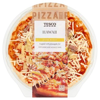Tesco Hawaii Pizza Topped with Pineapple 394 g