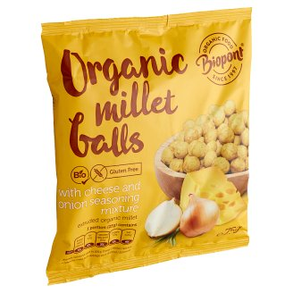 Biopont Organic Millet Balls with Cheese and Onion Seasoning Mixture 75 g