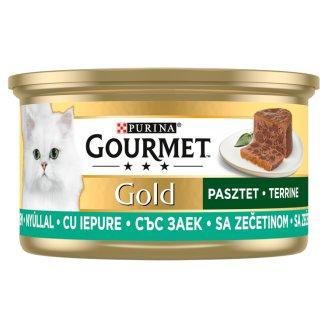 Gourmet Gold teljes értékű állateledel felnőtt macskák részére nyúllal 85 g