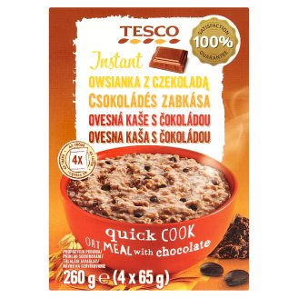 Tesco Instant Oat Meal with Dark Chocolate 4 x 65 g