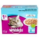 Whiskas 1+ teljes értékű nedves eledel felnőtt macskáknak négyféle hallal aszpikban 12 x 100 g