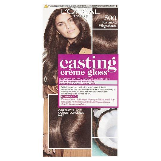 image 1 of L'Oréal Paris Casting Crème Gloss 500 Bright Brown Care Hair Colorant