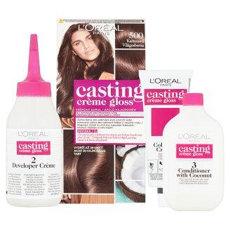 image 2 of L'Oréal Paris Casting Crème Gloss 500 Bright Brown Care Hair Colorant