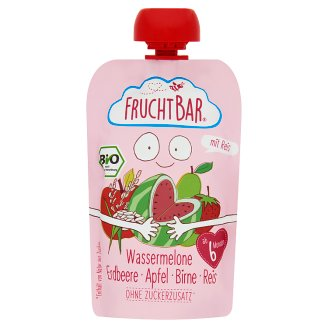 FruchtBar Organic Melon with Strawberry, Apple, Pear, and Rice Dessert for Babies 6+ Months 100 g