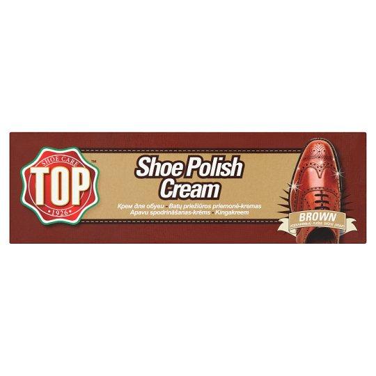 Top Brown Shoe Polish Cream 50 ml