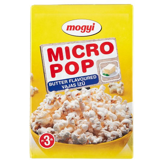 Mogyi Micro Pop Butter Flavoured Microwave Popcorn 3 x 100 g