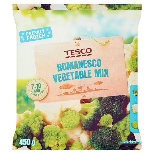 Tesco Freshly Frozen Romanesco Vegetable Mix 450 g
