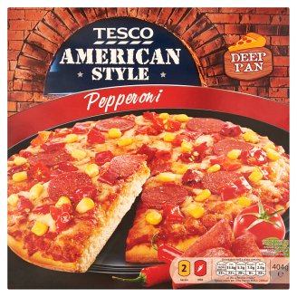 Tesco American Style Quick-Frozen Pepperoni Pizza 404 g