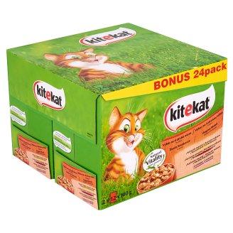 Kitekat teljes értékű állateledel felnőtt macskák számára vegyes menü 24 x 100 g