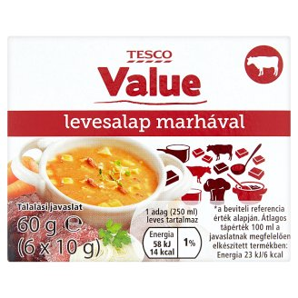 Tesco Value levesalap marhával 6 x 10 g
