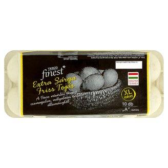 Tesco Finest extra sárga friss tojás XL 10 db