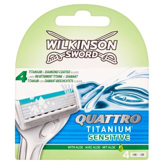 Wilkinson Sword Quattro Titanium Sensitive Razor Heads 4 pcs