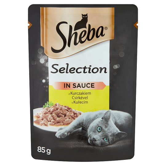 Sheba Selection Complete Pet Food for Adult Cats with Chicken 85 g