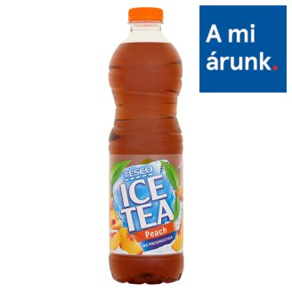 Tesco Ice Tea Peach Flavoured Soft Drink with Black Tea Extract, Sugar and Sweetener 1,5 l