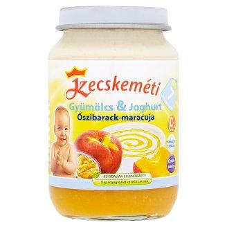 Kecskeméti Gyümölcs & Joghurt Gluten-Free Peach-Maracuja Baby Dessert 7+ Months 190 g