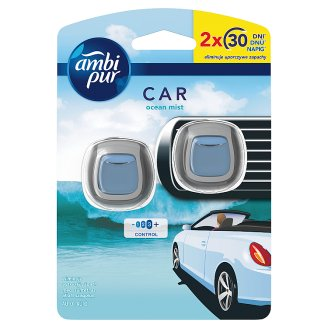 Ambi Pur Car Clip Air Freshener Ocean Mist 2 Unit
