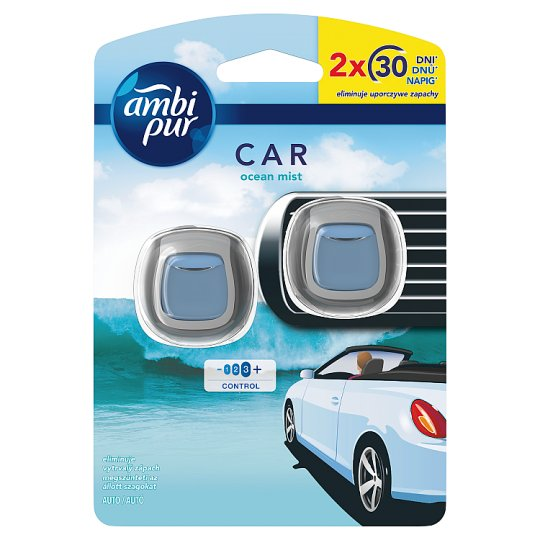 Ambi Pur Air Freshener Car Clip Ocean Mist 1 Unit