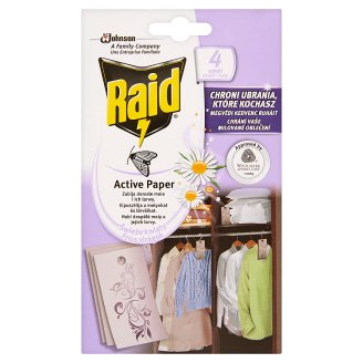 Raid Active Paper Fresh Flowers Moth-Killer Pads 4 pcs