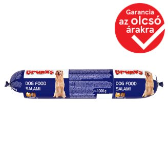 Brunos Complete Dog Food Salami with Poultry 1000 g