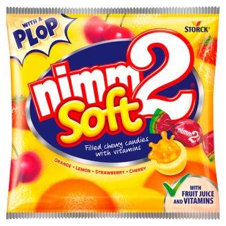 nimm2 Soft gyümölcsös töltött olvadó cukorka gyümölcslével és vitaminokkal 90 g