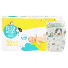 image 2 of Fred & Flo Ultra Dry 2 Mini 3-6 kg Nappies 60 pcs